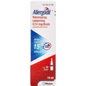 Køb ALLERGODIL NÆSESPRAY 0,14 MG/D online hos apotekeren.dk