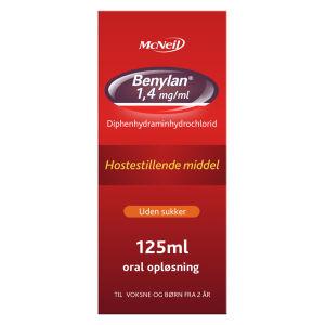Køb BENYLAN ORAL OPL 1,4 MG/ML online hos apotekeren.dk