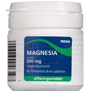 Køb MAGNESIA MEDIC TABL 500 MG online hos apotekeren.dk