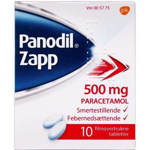 Køb PANODIL ZAPP TABL 500 MG online hos apotekeren.dk