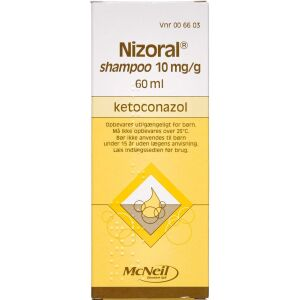 Køb NIZORAL SHAMPOO 1% online hos apotekeren.dk