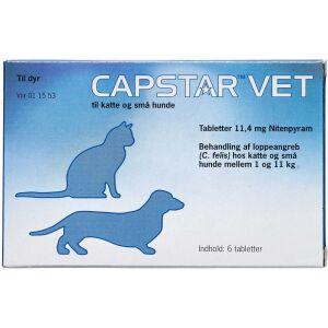Køb Capstar Vet Tabletter til hunde og katte 1-11 kg 6 stk. online hos apotekeren.dk
