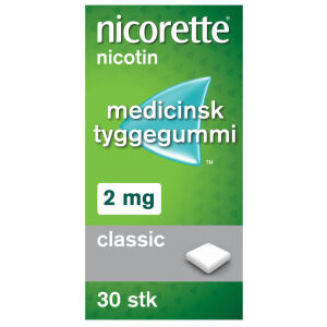 Køb NICORETTE CLASSIC MED.TYG. 2MG online hos apotekeren.dk