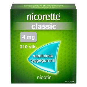 Køb NICORETTE CLASSIC MED.TYG. 4MG online hos apotekeren.dk