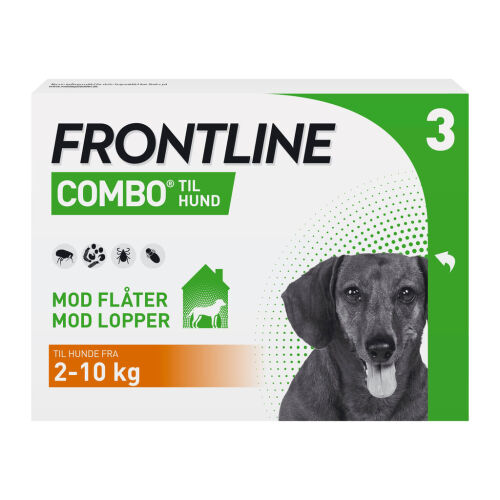 Køb Frontline Combo Vet til hunde 2-10 kg 3 x 0,67 ml online hos apotekeren.dk
