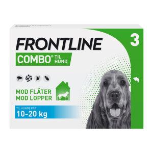 Køb Frontline Combo Vet til hunde 10-20 kg 3 x 1,34 ml online hos apotekeren.dk
