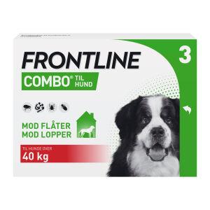 Køb Frontline Combo Vet til hunde over 40 kg 3 x 4,02 ml online hos apotekeren.dk