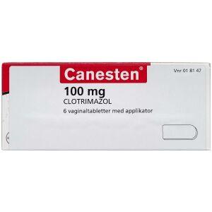 Køb CANESTEN VAGINALTABL 100MG(ORI online hos apotekeren.dk