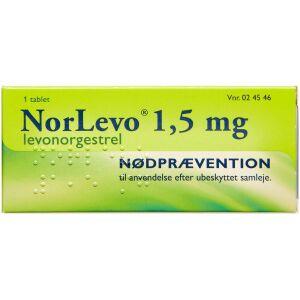 Køb NORLEVO TABL 1,5 MG online hos apotekeren.dk