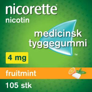 Køb NICORETTE FRUITMIN.MED.TYG 4MG online hos apotekeren.dk