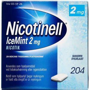 Køb NICOTINELL ICEMINT TYGGEG 2MG online hos apotekeren.dk