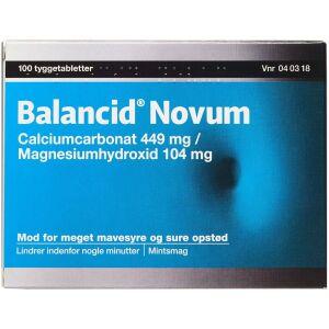 Køb BALANCID NOVUM TYGTB 449+104MG online hos apotekeren.dk