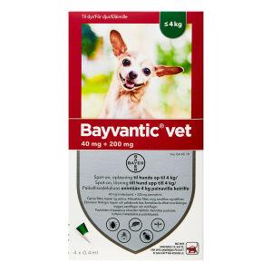 Køb BAYVANTIC VET T.HUNDE 0-4 KG online hos apotekeren.dk