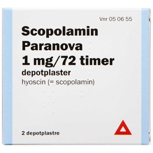 Køb SCOPOLAMIN DEPOTPL. 1 MG/72T online hos apotekeren.dk