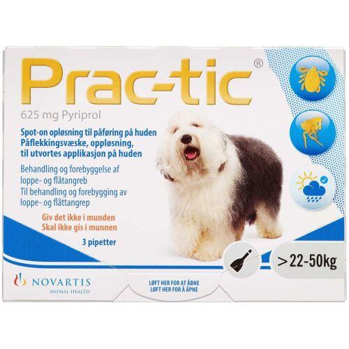 Køb Prac-tic spot-on 22-50 kg, 625 mg 3 stk. online hos apotekeren.dk