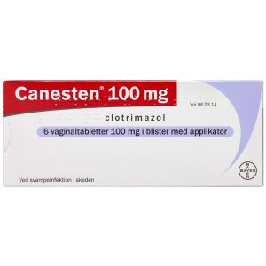 Køb CANESTEN VAGINALTABL 100 MG online hos apotekeren.dk