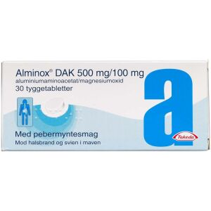 Køb ALMINOX TYG.TABL 500+100MG(DAK online hos apotekeren.dk
