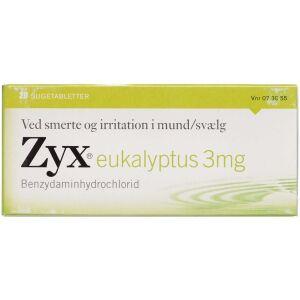 Køb ZYX SUGETABLET 3 MG EUCALYPTUS online hos apotekeren.dk