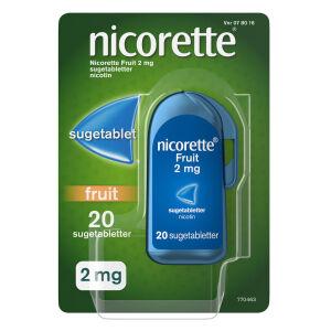 Køb NICORETTE FRUIT SUGETABL 2 MG online hos apotekeren.dk