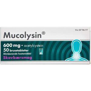 Køb MUCOLYSIN BRUSETABL 600 MG online hos apotekeren.dk