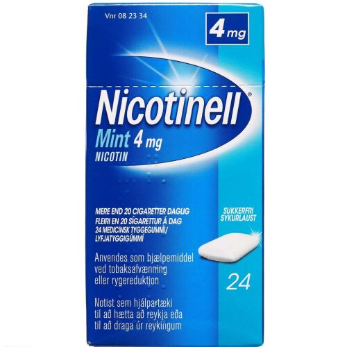 Køb NICOTINELL MINT TYGGEG 4 MG online hos apotekeren.dk