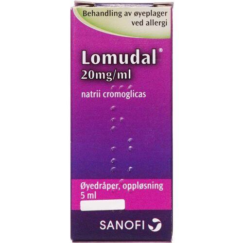 Køb LOMUDAL ØJENDR. 20 MG/ML (2CAR online hos apotekeren.dk
