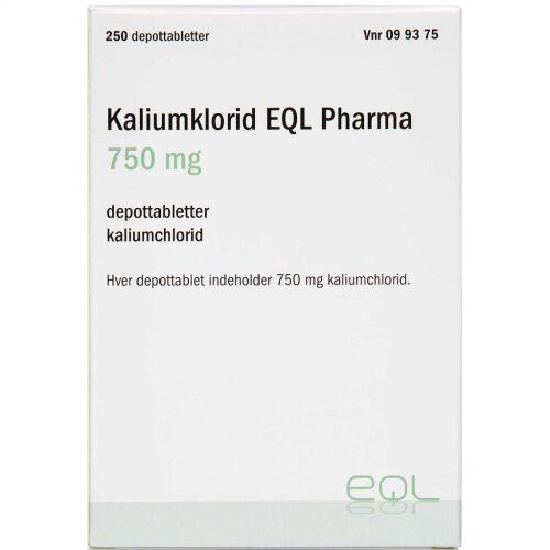 Køb KALIUMKLORID EQL DPTB 750 MG online hos apotekeren.dk