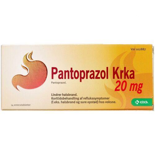 Køb PANTOPRAZOL ENTTABL 20 MG (KRK online hos apotekeren.dk