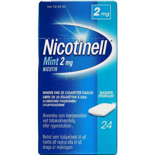 Køb NICOTINELL MINT TYGGEG 2 MG online hos apotekeren.dk