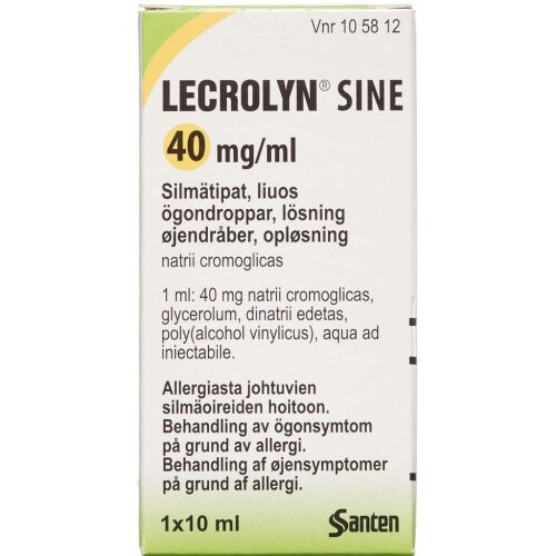 Køb LECROLYN SINE ØJENDR 40 MG/ML online hos apotekeren.dk