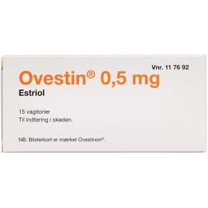 Køb OVESTIN VAGITORIER 0,5 MG (2C online hos apotekeren.dk