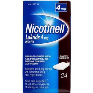 Køb NICOTINELL LAKRIDS TYGGEG 4 MG online hos apotekeren.dk