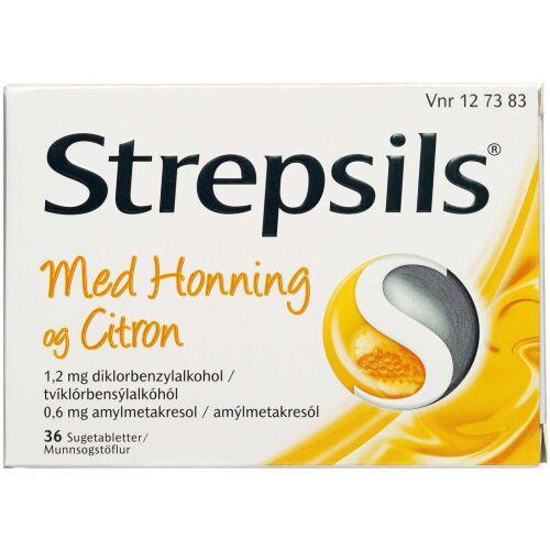 Køb STREPSILS SUGETABL HONNING/CIT online hos apotekeren.dk