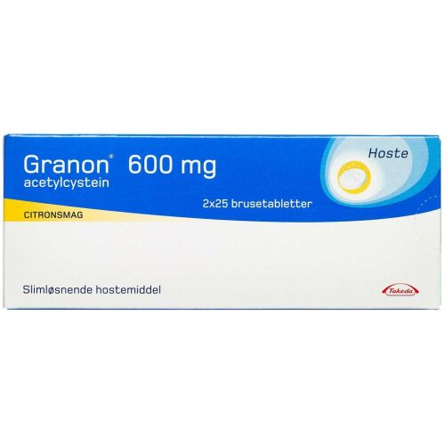 Køb GRANON BRUSETABL 600 MG online hos apotekeren.dk