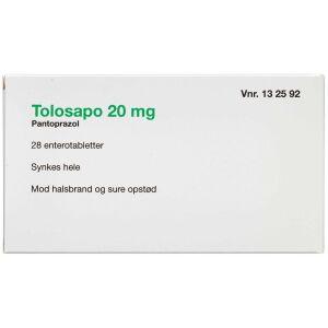 Køb TOLOSAPO ENTEROTB 20 MG (2CA online hos apotekeren.dk