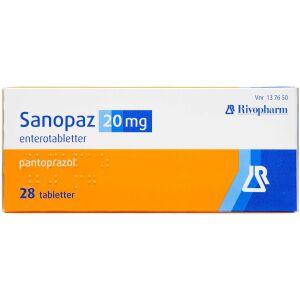 Køb SANOPAZ ENTEROTABL 20 MG online hos apotekeren.dk