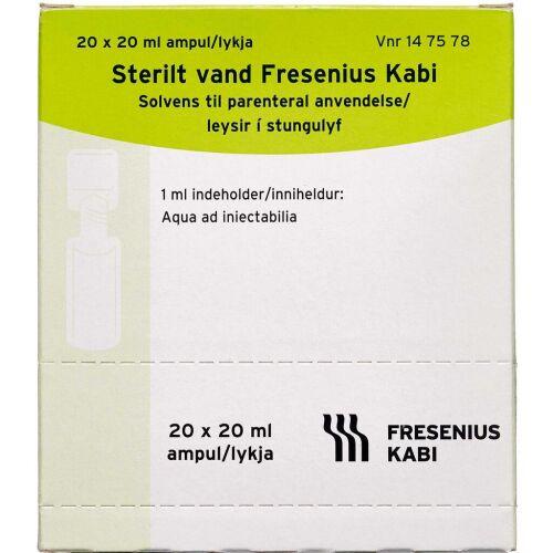 Køb STERILT VAND SOLV T.PAR (FRES online hos apotekeren.dk