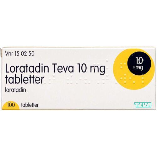 Køb LORATADIN TABL 10 MG (TEVA) online hos apotekeren.dk