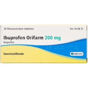Køb IBUPROFEN TABL 200 MG (ORIFARM online hos apotekeren.dk