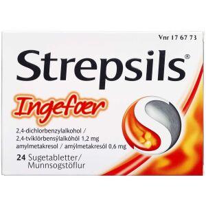 Køb STREPSILS SUGETABL INGEFÆR online hos apotekeren.dk