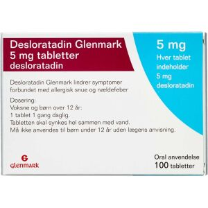 Køb DESLORATADIN TABL 5 MG (GLENM online hos apotekeren.dk
