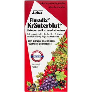 Køb Floradix Kräuterblut Jern eliksir 500 ml online hos apotekeren.dk