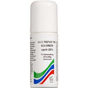 Køb Aluminiumchlorid sprit 25% 60 ml online hos apotekeren.dk