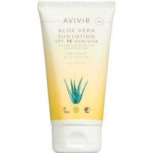 Køb AVIVIR Aloe Vera Sun Lotion SPF 15 150 ml online hos apotekeren.dk