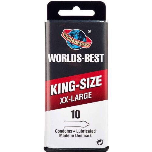 Køb Worlds-Best King-Size XX-LARGE 10 stk. online hos apotekeren.dk