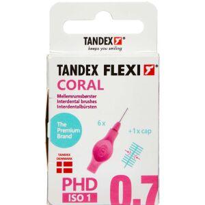 Køb TANDEX FLEXI Mellemrumsbørste - CORAL 6 stk. online hos apotekeren.dk