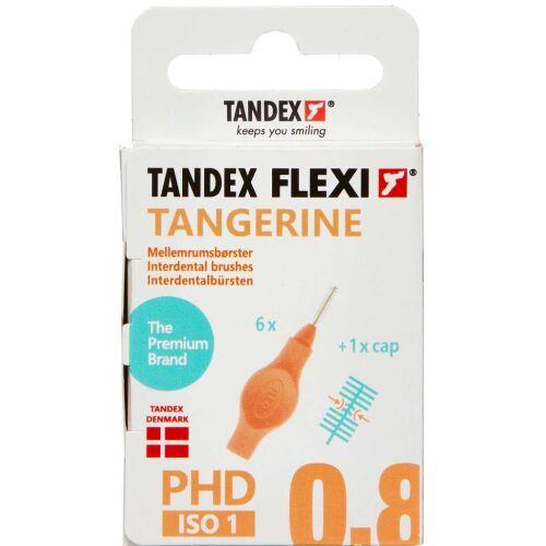 Køb TANDEX FLEXI Mellemrumsbørste - TANGERINE 6 stk. online hos apotekeren.dk