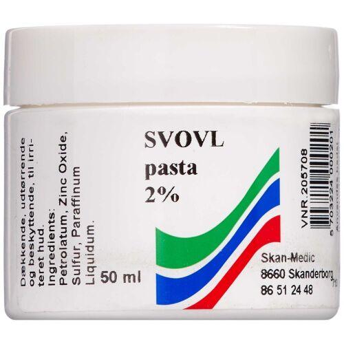 Køb Svovl pasta 2% 50 ml online hos apotekeren.dk