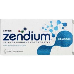 Køb Zendium Classic Tandpasta 2 x 50 ml online hos apotekeren.dk