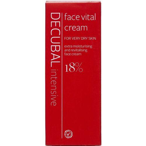 Køb Decubal Face Vital creme ekstra fugtgivende ansigtscreme 50 ml online hos apotekeren.dk